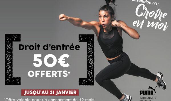 Droit d'entrée = 50 € OFFERTS