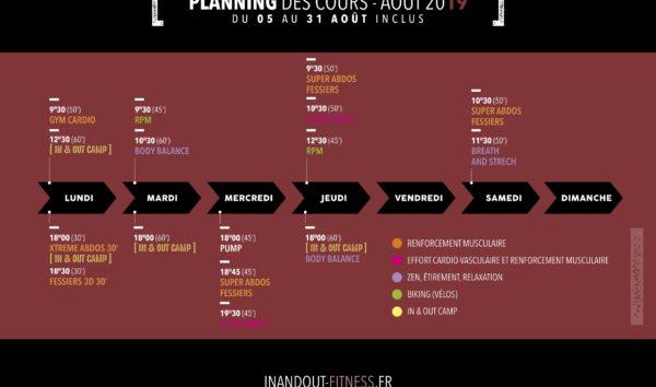 Planning allégé (VACANCES)