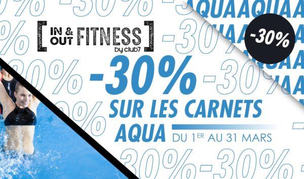 -30% sur les carnets Aquagym